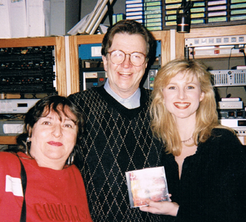 Judy Kellersberger with DJs Dandy Dan Daniels and Lisa Taylor